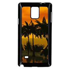 Sunset Over The Beach Samsung Galaxy Note 4 Case (black)