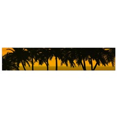 Sunset Over The Beach Flano Scarf (small)