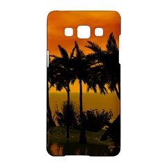 Sunset Over The Beach Samsung Galaxy A5 Hardshell Case