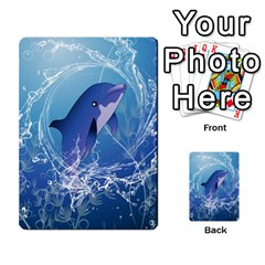 Cute Dolphin Jumping By A Circle Amde Of Water Multi-purpose Cards (Rectangle)