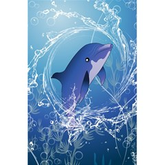 Cute Dolphin Jumping By A Circle Amde Of Water 5.5  x 8.5  Notebooks