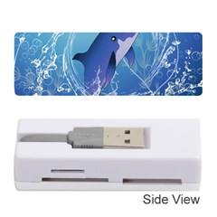Cute Dolphin Jumping By A Circle Amde Of Water Memory Card Reader (Stick)