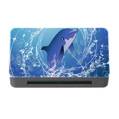 Cute Dolphin Jumping By A Circle Amde Of Water Memory Card Reader With Cf