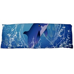 Cute Dolphin Jumping By A Circle Amde Of Water Body Pillow Cases (dakimakura)