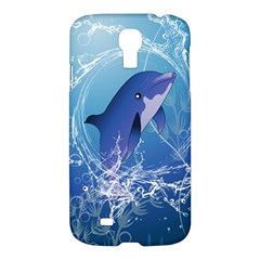 Cute Dolphin Jumping By A Circle Amde Of Water Samsung Galaxy S4 I9500/I9505 Hardshell Case