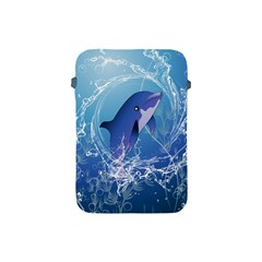 Cute Dolphin Jumping By A Circle Amde Of Water Apple iPad Mini Protective Soft Cases