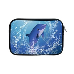 Cute Dolphin Jumping By A Circle Amde Of Water Apple iPad Mini Zipper Cases