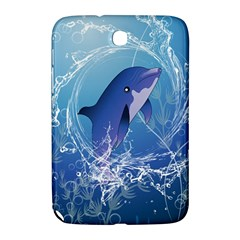Cute Dolphin Jumping By A Circle Amde Of Water Samsung Galaxy Note 8.0 N5100 Hardshell Case