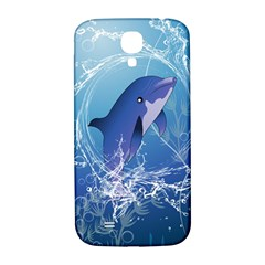 Cute Dolphin Jumping By A Circle Amde Of Water Samsung Galaxy S4 I9500/I9505  Hardshell Back Case