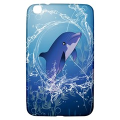 Cute Dolphin Jumping By A Circle Amde Of Water Samsung Galaxy Tab 3 (8 ) T3100 Hardshell Case