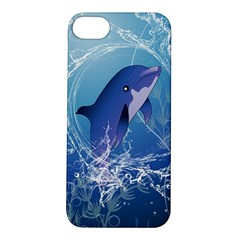 Cute Dolphin Jumping By A Circle Amde Of Water Apple Iphone 5s Hardshell Case