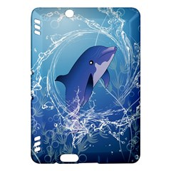 Cute Dolphin Jumping By A Circle Amde Of Water Kindle Fire HDX Hardshell Case