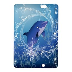 Cute Dolphin Jumping By A Circle Amde Of Water Kindle Fire HDX 8.9  Hardshell Case