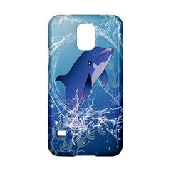 Cute Dolphin Jumping By A Circle Amde Of Water Samsung Galaxy S5 Hardshell Case