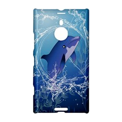 Cute Dolphin Jumping By A Circle Amde Of Water Nokia Lumia 1520