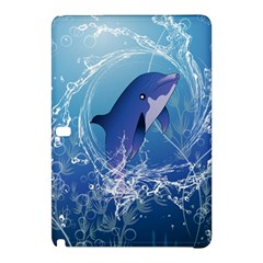 Cute Dolphin Jumping By A Circle Amde Of Water Samsung Galaxy Tab Pro 12.2 Hardshell Case