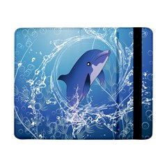 Cute Dolphin Jumping By A Circle Amde Of Water Samsung Galaxy Tab Pro 8.4  Flip Case