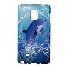Cute Dolphin Jumping By A Circle Amde Of Water Galaxy Note Edge