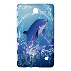 Cute Dolphin Jumping By A Circle Amde Of Water Samsung Galaxy Tab 4 (7 ) Hardshell Case