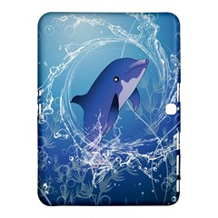 Cute Dolphin Jumping By A Circle Amde Of Water Samsung Galaxy Tab 4 (10.1 ) Hardshell Case
