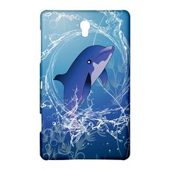 Cute Dolphin Jumping By A Circle Amde Of Water Samsung Galaxy Tab S (8.4 ) Hardshell Case