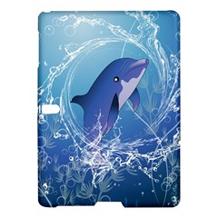 Cute Dolphin Jumping By A Circle Amde Of Water Samsung Galaxy Tab S (10 5 ) Hardshell Case