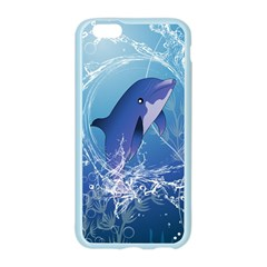 Cute Dolphin Jumping By A Circle Amde Of Water Apple Seamless iPhone 6/6S Case (Color)