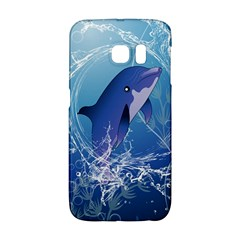 Cute Dolphin Jumping By A Circle Amde Of Water Galaxy S6 Edge