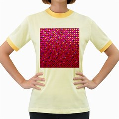 Polka Dot Sparkley Jewels 1 Women s Fitted Ringer T Shirts