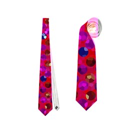 Polka Dot Sparkley Jewels 1 Neckties (one Side)