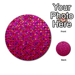 Polka Dot Sparkley Jewels 1 Multi Purpose Cards (round)