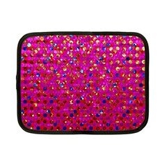 Polka Dot Sparkley Jewels 1 Netbook Case (Small)