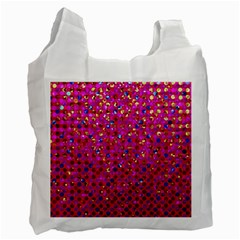 Polka Dot Sparkley Jewels 1 Recycle Bag (Two Side)