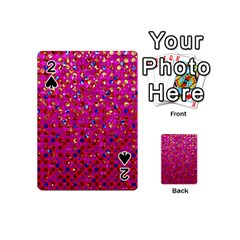 Polka Dot Sparkley Jewels 1 Playing Cards 54 (Mini)