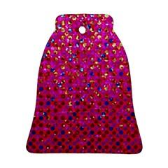 Polka Dot Sparkley Jewels 1 Ornament (Bell)