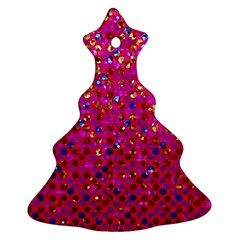 Polka Dot Sparkley Jewels 1 Christmas Tree Ornament (2 Sides)
