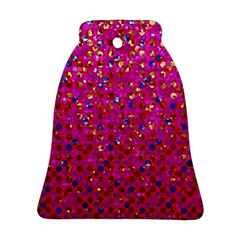 Polka Dot Sparkley Jewels 1 Bell Ornament (2 Sides)