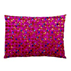 Polka Dot Sparkley Jewels 1 Pillow Cases (Two Sides)