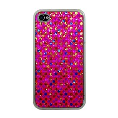 Polka Dot Sparkley Jewels 1 Apple iPhone 4 Case (Clear)