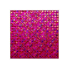 Polka Dot Sparkley Jewels 1 Acrylic Tangram Puzzle (4  x 4 )
