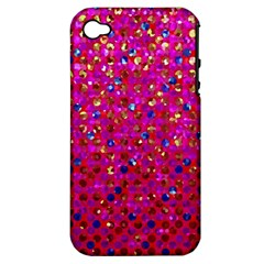Polka Dot Sparkley Jewels 1 Apple iPhone 4/4S Hardshell Case (PC+Silicone)