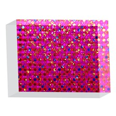 Polka Dot Sparkley Jewels 1 5 x 7  Acrylic Photo Blocks