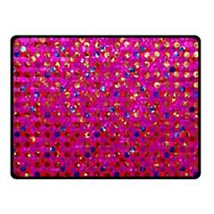 Polka Dot Sparkley Jewels 1 Double Sided Fleece Blanket (Small)