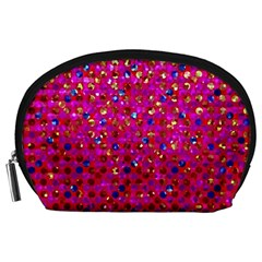 Polka Dot Sparkley Jewels 1 Accessory Pouches (Large)