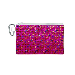 Polka Dot Sparkley Jewels 1 Canvas Cosmetic Bag (S)