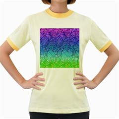Grunge Art Abstract G57 Women s Fitted Ringer T Shirt