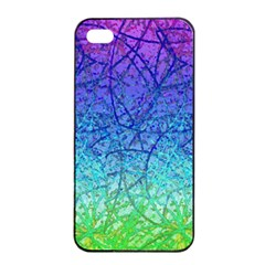 Grunge Art Abstract G57 Apple iPhone 4/4s Seamless Case (Black)