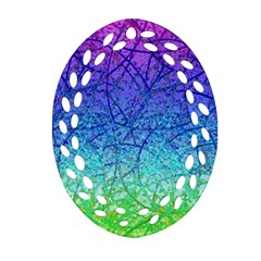 Grunge Art Abstract G57 Oval Filigree Ornament (2-Side)