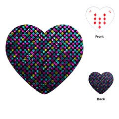 Polka Dot Sparkley Jewels 2 Playing Cards (heart)