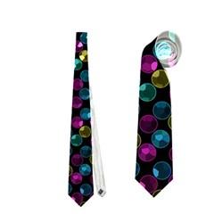 Polka Dot Sparkley Jewels 2 Neckties (one Side)